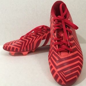 Adidas Women's 7.5 red soccer cleats